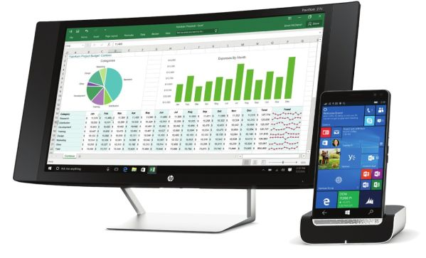 HP Elite X3 a Desk Dock