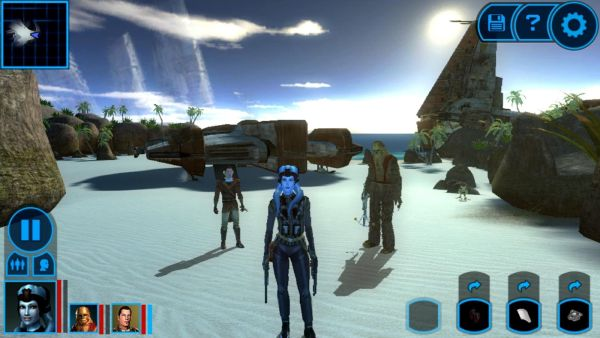 Star Wars: Knights of the Old Republic. Nie, toto nie je Mass Effect (zdroj: ggpht.com)