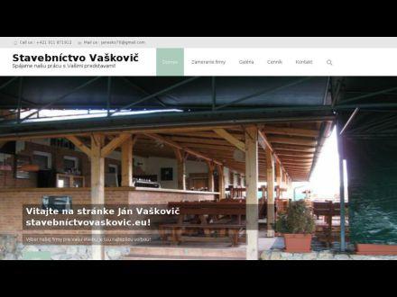 www.stavebnictvovaskovic.eu