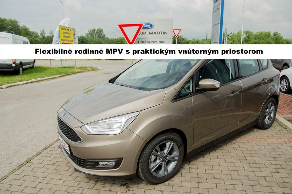 Ford C-Max 1.0 EcoBoost 125k Family Edition, 92kW, M6, 5d.