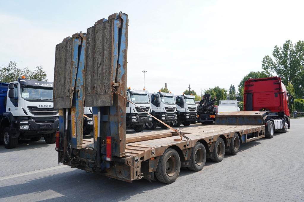 Faymonville  4 axles , extended , stretched , deck high 85m