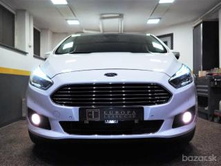 Ford S-Max 2.0 TDCi 132kW A/T+F1,TITANIUM,Panorama,Full LED,Pruhy,Značky