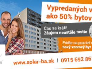 TVOJ BYT + TVOJE PRAVIDLÁ = SOLAR Novostavba Bratislava V - Petržalka