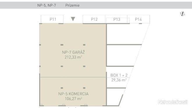 PREDAJ, komerčné priestory 318,60 m2, Ecohouse, BA II