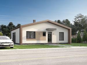 Ponúkame na predaj stavbu nízkoenergetickeho montovaného domu