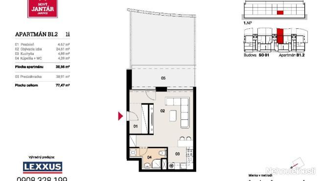 PREDAJ 1i apartmán v novostavbe Nový Jantár Jarovce