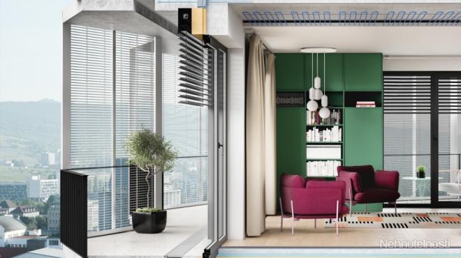 2-izbový byt C.08.05 v projekte GUTHAUS, orientácia juhovýchod