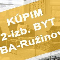 Hľadáme na kúpu 2-izb. byt v BA-Ružinov