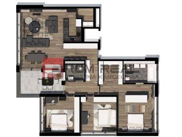 Na predaj 4 izbový byt v Byty Vinice Pezinok - A51