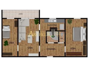 3-IZBOVÝ BYT S LODŽIOU, 57 m2 - KOŠICE KALVÁRIA