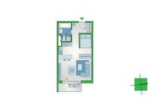 Šikovný 1-izbový byt s exteriérovými žalúziami v cene. Novostavba NUPPU, Ružinov.