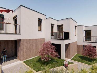 NOVOSTAVBA! 4 - izbový, dvojpodlažný RD, veľký pozemok, terasa, 2x balkón, 3x parkovacie státie