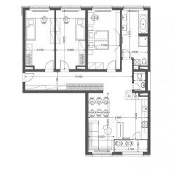 4i byt v novostavbe Retro - centrum (4.10)