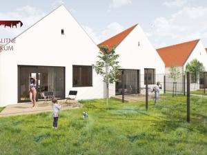 PROJEKT WHITE PARK ČUKÁRSKA PAKA!! Novostavba 2 - izbových domov, veľký pozemok, terasa, parkovacie