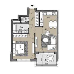 2i byt v novostavbe Zelené Vlčince /D.210