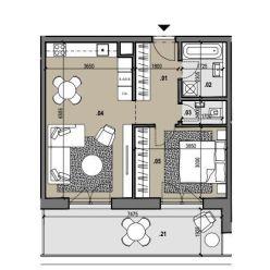 2i byt s výhľadom na najvyššom poschodí Zelené Vlčince /C.807