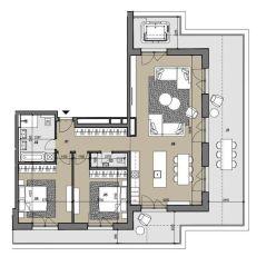 4i byt s terasou na najvyššom poschodí Zelené Vlčince  D.808