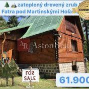 Predaj:drevený zrub pod Martinskými Hoľami v Malej Fatre, 55m2