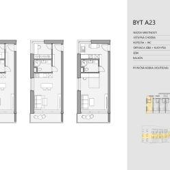 Predaj slnečného 1i bytu 39,36 m2 s balkónom, Stošice - Podhorany, Liptovský Mikuláš
