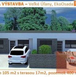 4 izbový rodinný dom (105 m2) s vlastným pozemkom 400 m2 Veľké Úľany, EkoOsada 125.000 €