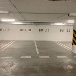 Parkovacie státie v podzemnej garáži v bytovom dome BytySputnik