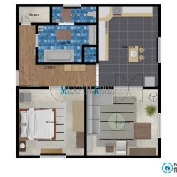 MAXFIN REAL - na predaj - 2 izb. byt v centre mesta - Nitra