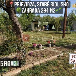 Predaj: záhrada 294 m2, Prievidza - Staré Sídlisko - SAD SNP