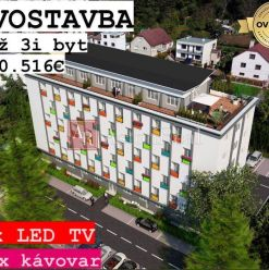 NOVOSTAVBA: 3i byt, 52,53 m2 + PARKING ZDARMA, Detva