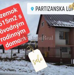 PREDAJ: Rodinný dom s pozemkom 2.615m2, Partizánska Ľupča