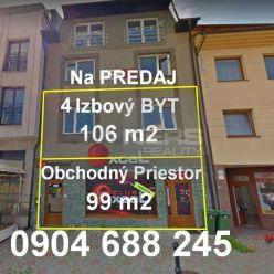 PREDAJ: Obchodný – podnikateľský priestor v centre mesta Ružomberok ulica Mostová