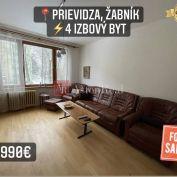 Predaj: 4 izbový byt, 82 m2, Prievidza, Žabník