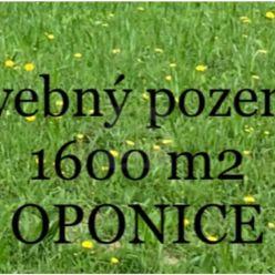 Directreal ponúka ***Stavebný pozemok o výmere 1600 m2 v obci OPONICE***