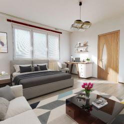 Ponúkame na predaj 1-izbový byt s balkónom 38m2 na Veternicovej ulici, Karlova Ves-Dlhé Diely