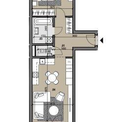 2i byt s výhľadom na najvyššom poschodí Zelené Vlčince /C.806
