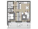 2i byt s výhľadom na najvyššom poschodí Zelené Vlčince /C.802