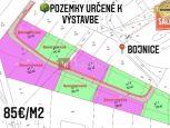 PREDAJ: pozemky cca 800 m2, Bojnice