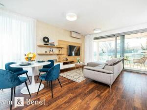 Arvin & Benet   Výnimočný, dizajnový, zariadený a úplne nový byt s terasou a záhradou