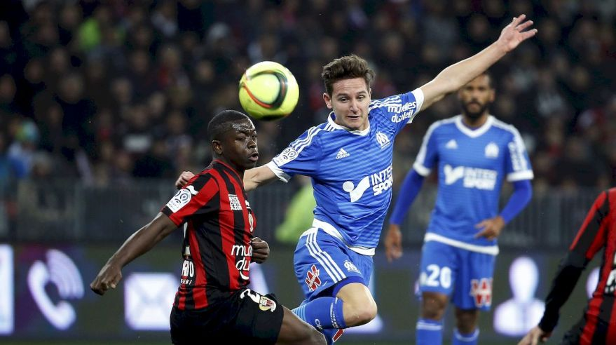 Nice Olympique Marseille Florian Thauvin Nampalys Mendy feb16 Reuters