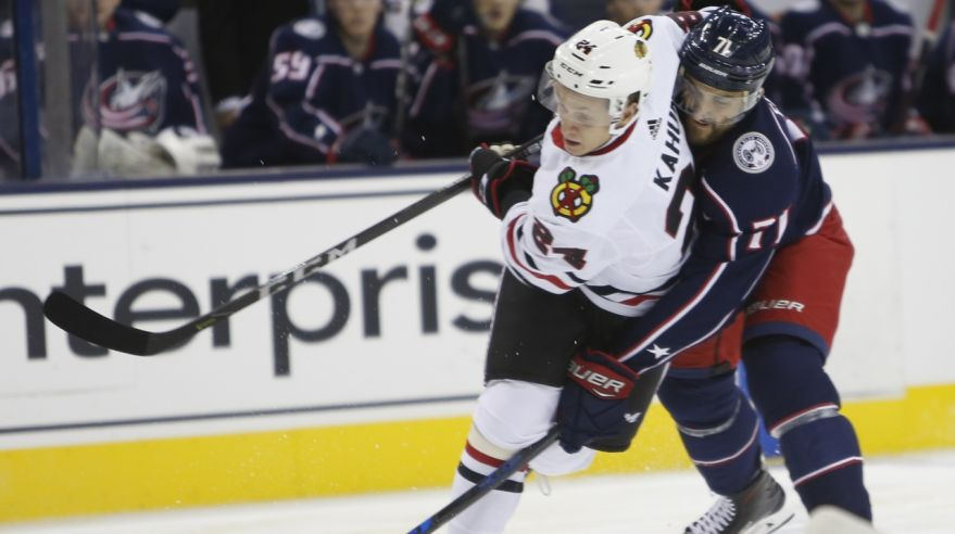 Chicago Blackhawks - Columbus Blue Jackets (Dominik Kahun, Nick Foligno)