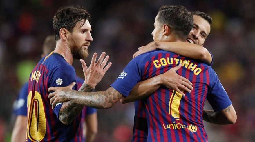 Lionel Messi a Phelippe Coutinho