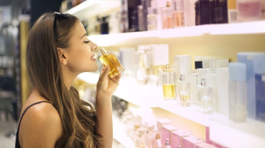 Smelling perfumes