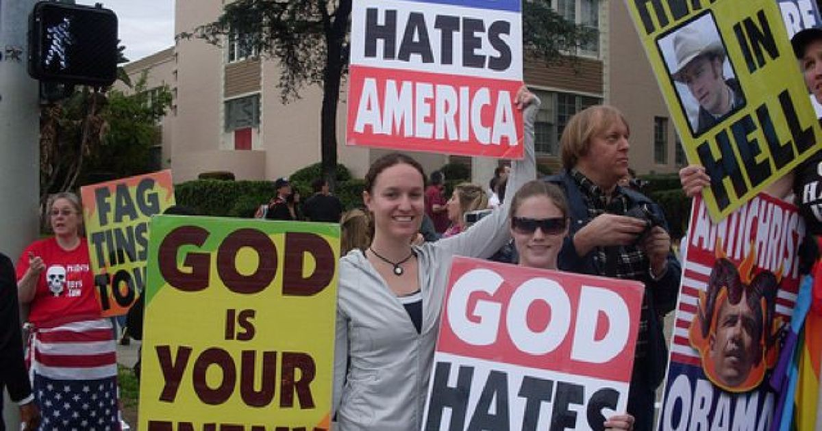 the westboro baptist church and their protest The westboro baptist church is known for protesting a variety of people and places it considers sinful, often using extremely controversial signs and language.