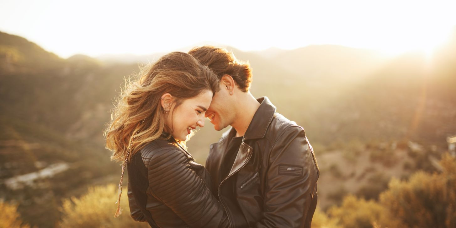 Beautiful couple with nature
