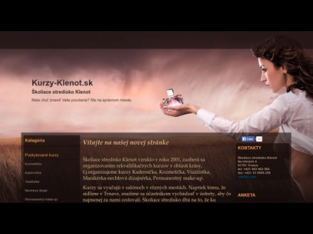 www.kurzy-klenot.sk