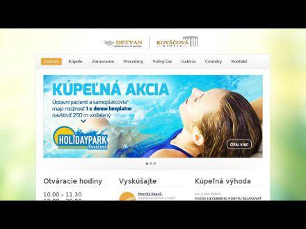 www.kupelekovacova.sk
