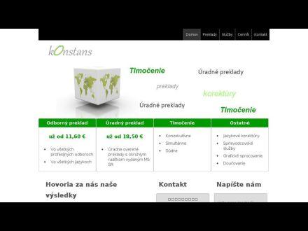 www.konstans.sk