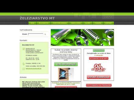 www.zeleziarstvoMT.sk