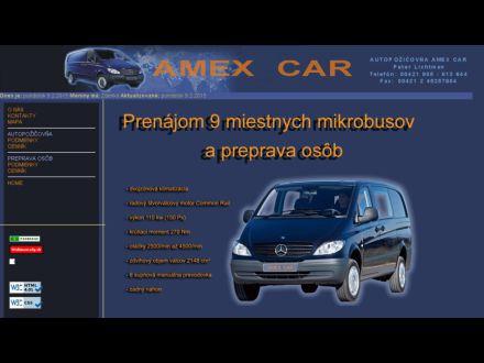 www.amexcar.sk