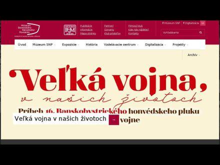 www.muzeumsnp.sk