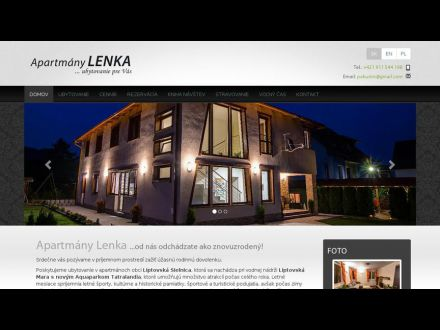 www.apartmanylenka.sk